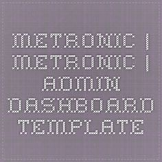 Metronic | Metronic | Admin Dashboard Template