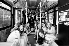 Dallas wedding photographer, Mary Fields Photography, black and white bridal party pictures, Ridgewood Country Club, Waco, TX