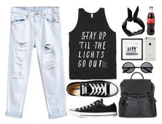 Thoughts are louder than my words by donut-care on Polyvore featuring polyvore fashion style Converse Topshop Boohoo Retrò clothing black Rad