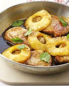 Low FODMAP Recipe and Gluten Free Recipe - Spiced pineapple pork http://www.ibssano.com/spiced_pineapple_pork.html