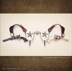 how the breast was won (guns + spurs - art bra) ... Meg Spielman ... http://nolumpsthankyou.com/index2.php#/home/