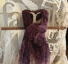Check out this item in my Etsy shop https://www.etsy.com/listing/210345039/purple-knitted-long-fluffy-scarf-soft
