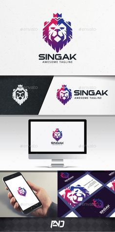 Lion King Logo Template PSD, Vector EPS, AI Illustrator
