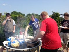 Making the most of the sunshine with a lunchtime BBQ!