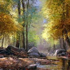 Discover Michael Godfrey's art and his passion for capturing the grandeur of God's creation in his award-winning landscape paintings that span all seasons