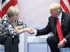 "Trump promises May a post-Brexit free trade deal with UK 'very, very quickly' - Donald Trump promises Theresa May 'very quick' deal on trade.  President says ""no two countries could be closer"" than US and UK.  Trump says he will visit London.  Comments will be seen as a boost to May following her failure to win a majority in the general election.  LONDON — Donald Trump has promised a post-Brexit free trade deal with Britain ""very, very quickly"" following his meeting with Prime Minister…"