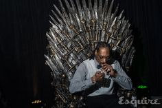Here's Snoop Dogg Smoking up on the Iron Throne