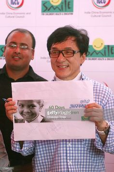 Hollywood actor Jackie Chan during the event of Smile Foundation at Shri Ram JJ Champ on June 19, 2013 in New Delhi, India.
