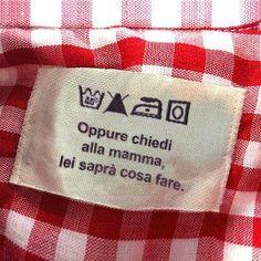 Etichette crative per abiti
