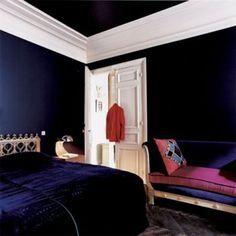 Murs Bleu Marine sur Pinterest Murs De La Marine, Peindre Des Portes ...