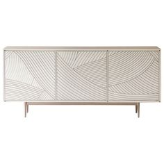 Bethan Gray Dhow Three-Door Cabinet White and Nickel For Sale Decor, Furniture Design, Furniture Decor, Kids Furniture Stores, Modern Furniture, Furniture, Home Furniture, White Furniture Living Room, Luxury Home Furniture