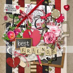 Best Friends  PU Digital Scrap Kit  INSTANT DOWNLOAD by cheyOkota, $2.99