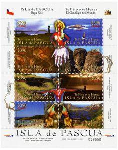 ISLA DE PASCUA, EASTER ISLAND , TEMATICAS SELLOS DE CHILE