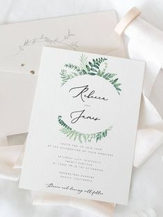 Printable Wedding Invitation Template Ferns Wedding Invite DIY