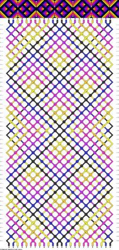 Muster # 66620, Streicher: 24 Zeilen: 50 Farben: 6