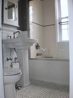 1920 39 s homes and interior design on pinterest bungalows for Bathroom decor 1920 s