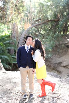 Colorful UCLA Engagement    See the full e-sesh on Style Me Pretty: http://www.StyleMePretty.com/california-weddings/los-angeles/2014/02/17/colorful-ucla-engagement/ Youkeun Oh Photography