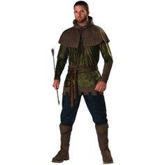 Robin Hood Adult Halloween Costume, Men's, Size: Large, Multicolor