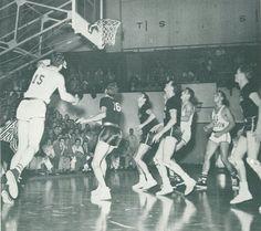 1948 Idaho-Oregon basketball game at McArthur Court. From the 1949 Oregana (University of Oregon yearbook). www.CampusAttic.com Basketball History, Basketball Games, University Of Oregon, Idaho, Concert, History Of Basketball, Basketball Plays, Concerts