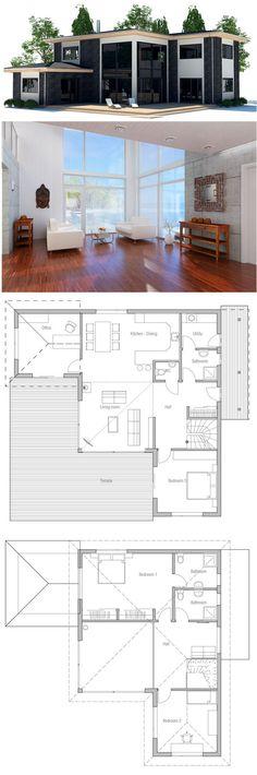 maison-mitoyenne-maison-jumelee Plans de maison Pinterest