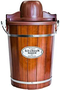 6-QUART CAPACITY: Makes up to 6-quarts of delicious ice cream, frozen yogurt or gelato NOSTALGIA ICE CREAM KITS: Unit works perfectly with all Nostalgia ice cream mixes - try Vanilla Crème (ICP825VAN), Chocolate (ICP825CHOC), Strawberry (ICP825STRAW), and No Sugar Added Vanilla (ICP825VANSF) Best Ice Cream Maker, Electric Ice Cream Maker, Ice Cream Mix, Make Ice Cream, Homemade Ice Cream, Gelato, Electric 6, Electric Motor, Old Fashioned Ice Cream