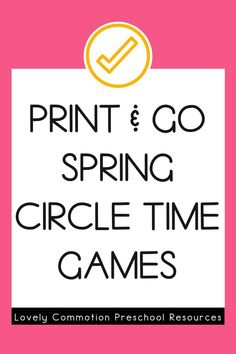Circle Time Games are perfect to help your preschoolers or kindergarteners practice essential skills in a fun and engaging way. The Spring edition of Circle Time Games gives you 40 games, covering 20 skills- enough for 3 months worth of planning! Try two games sample now! Preschool Learning Activities, Preschool Class, Circle Time Games, Letter Identification, Word Sentences, Letter To Parents, Early Reading, Letter Sounds, 2 Year Olds