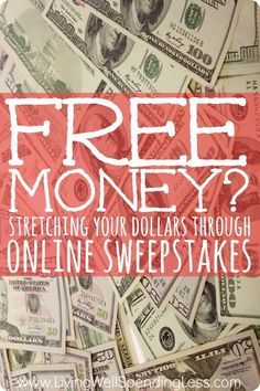 Who wouldn't love a little free money? Wondering if it is worth spending time & effort to enter the contests & giveaways you see on blogs and websites? Don't miss this post with great tips for how to stretch your dollars through playing online sweepstakes Money Making Ideas #Money