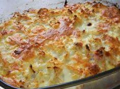 Schinken-Käse-Blumenkohl-Auflauf A simple recipe for a delicious main course. You absolutely have to try this casserole. Casserole Dishes, Casserole Recipes, Meat Recipes, Healthy Recipes, Cauliflower Casserole, Cauliflower Recipes, Cauliflower Cheese, Slovak Recipes, Cooking Dishes