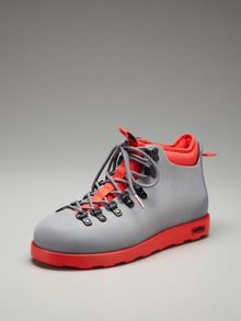 Native Fitzsimmons Boots in bottle cap grey torch red.  Got these too, they're having a huge sale at Gilt.com ($80 MSRP) $45