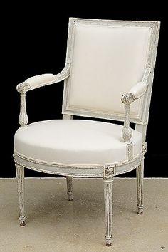 French Antique Louis XVI-Style Desk Armchair