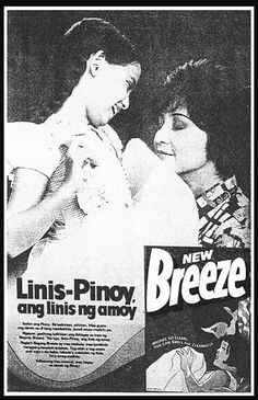 reminiscing the good old days.Maricel Soriano and Nida Blanca in Breeze ad. Vintage Advertisements, Vintage Ads, Filipiniana, Manila Philippines, Old Ads, Classic Image, My Childhood Memories, Vintage Comics, Pinoy