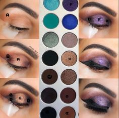 makeup looks with james charles palette Makeup Guide, Eye Makeup Tips, Beauty Makeup, Makeup Ideas, Makeup Inspo, Makeup Stuff, Beauty Tips, Makeup Tutorial Step By Step, Basic Makeup