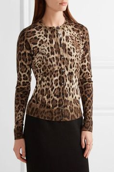 Dolce & Gabbana - Leopard-print Cashmere And Silk-blend Cardigan - Leopard print - IT50