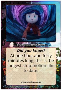 Coraline is Stop motion! It's doesn't look stop motion Coraline Movie, Coraline Art, Coraline Jones, Movie Facts, Fun Facts, Coraline Theories, Coraline Aesthetic, Laika Studios, Scary Kids