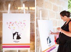 Le mariage estival et coloré en orange et fushia d'Estelle - Yahoo Pour Elles