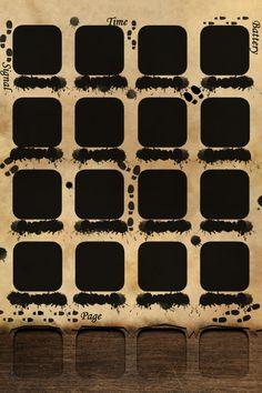 Marauder's Map iPhone wallpaper
