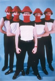 Devo With Energy Action Domes. Yes that is what those hats are called!