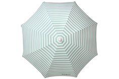 Spearmint Streak Umbrella from Cocopani Australia  Get your stripe on with this elegant umbrella produced in 100%...