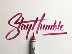 Dribbble - Stay Humble by Colin Tierney