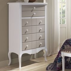 Vintage Solid Wood Sinfonier - Bedrooms For Girls Chalk Paint Furniture, Paint Colors, Solid Wood, Colours, Dressing Table, Dressers, Furnitures, Painting, Inspiration