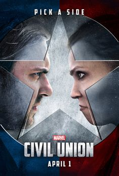 Captain America: Civil Union (a poster I made for my... #wedding #weddings