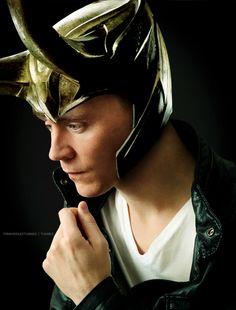 Tom Hiddleston | Loki's helmet >:)