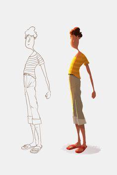 Les vacances - Character design - Vivien Bertin