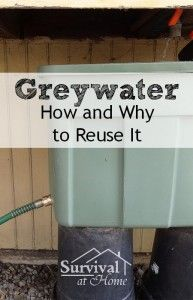 Greywater: How and Why to Reuse It (via Survival at Home)