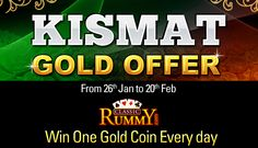 Let KISMAT Smile On You This Time @ Classic Rummy! : https://www.classicrummy.com, know more about the offer at : http://blog.classicrummy.com