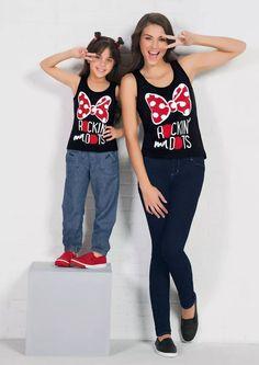 · Par De Camisetas Mama E Hija Estampado Minnie Mouse - $ 399.00