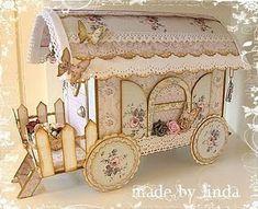 wagon. can hide a mini book inside