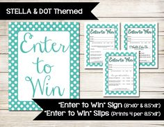 Lipsense enter to win sign raffle ticket drawing slip for Office depot raffle ticket template
