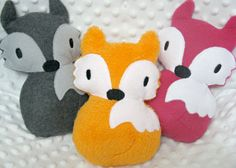 Orange Fox Plus Stuffed Animal Woodland Toy Gift by lilliannamarie