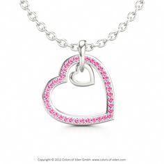 Romantic Heart Pendant TWO HEARTS #heart #pendant